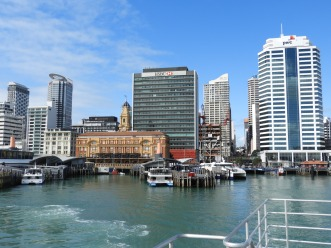 View of Auckland from the harbour
