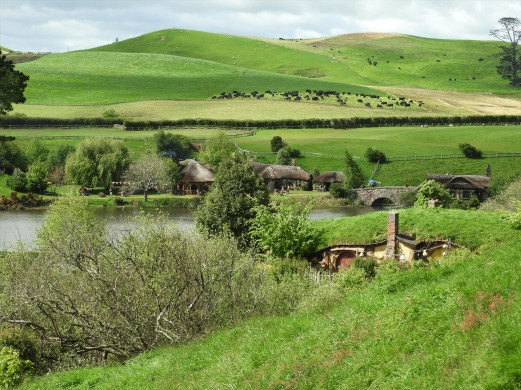 The green fields of Hobbiton
