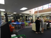 Looking toward the school entrance - The Hub Library