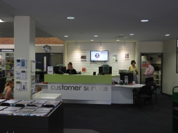 Council's customer service point - The Hub Library