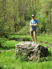 Rowan on a rock