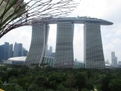 """great view of the """"boat bulding"""" from th super trees"""