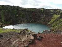 shimering crater lake