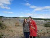 Me and Mom in front of the original Geysir