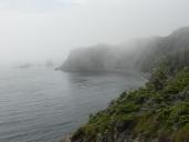 fog engulfing the island